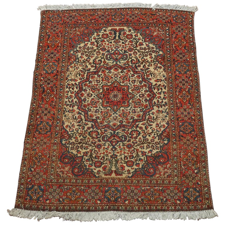 Antique Persian Isfahan Rug For Sale At 1stdibs