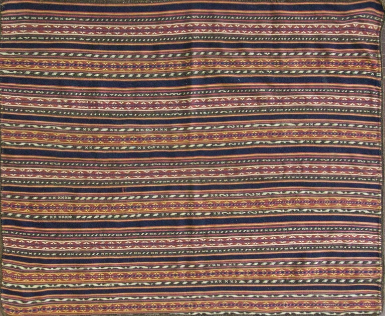 Cicim or Jijim or Jajim: Kilims woven in narrow strips that are sewn together. Most Anatolian Kilims are slit woven. Larger antique Kilims were woven in two to three separate sections on small nomadic horizontal floor looms in three feet wide long