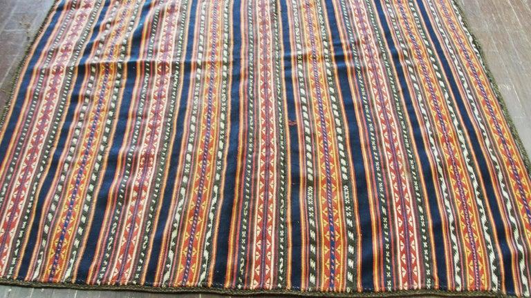 20th Century Antique Persian Jajim Kilim Persian Carpet For Sale