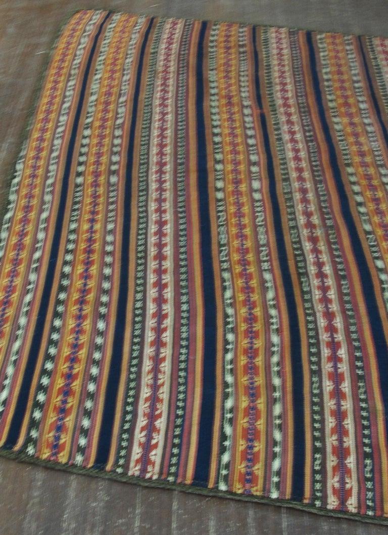 Wool Antique Persian Jajim Kilim Persian Carpet For Sale