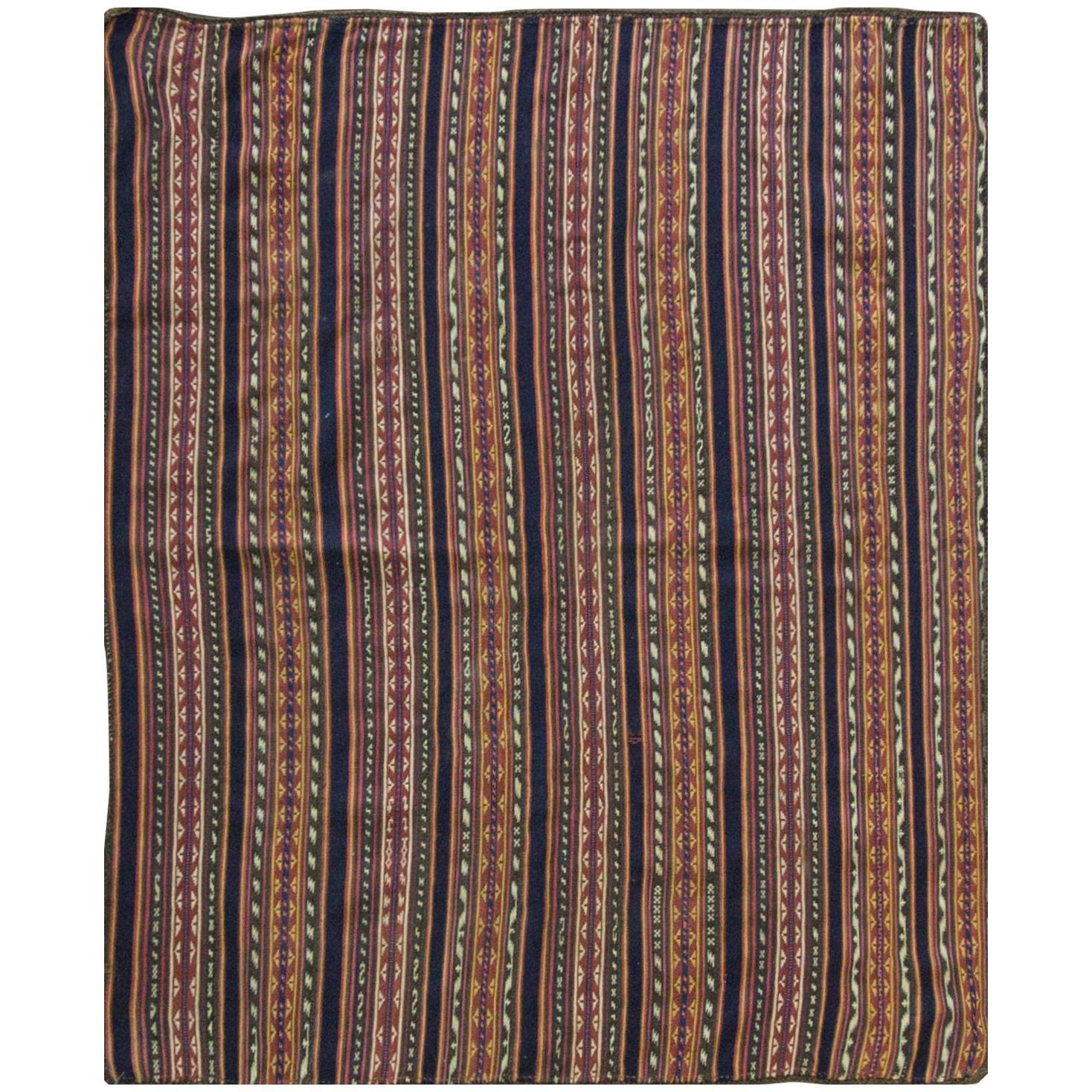 Antique Persian Jajim Kilim Persian Carpet