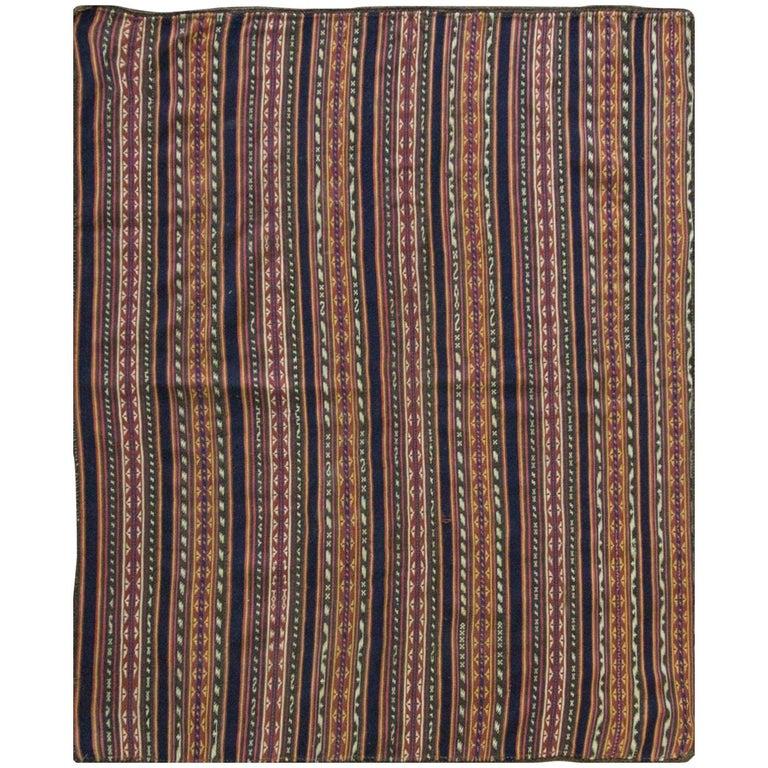 Antique Persian Jajim Kilim Persian Carpet For Sale