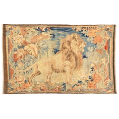 Antique Persian Karabagh with King of the Jungle Floral Details
