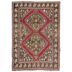 Antique Persian Karabakh Rug, Persian Gharabagh Accent Rug with Old World Style