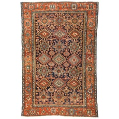 Antique Persian Karaja Carpet, circa 1920s