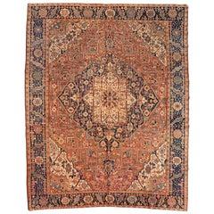Antique Persian Karaja Carpet, circa 1930-1940