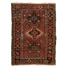 Antique Persian Karaja Carpet, circa 1940s