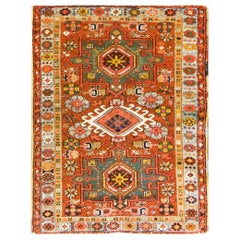 Antique Persian Karaja Serapi, Heriz, Amazing Colors