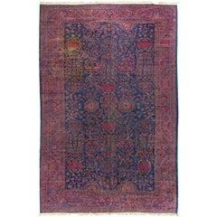 Antique Persian Kashan Rug, circa 1890 10'9 x 16'7