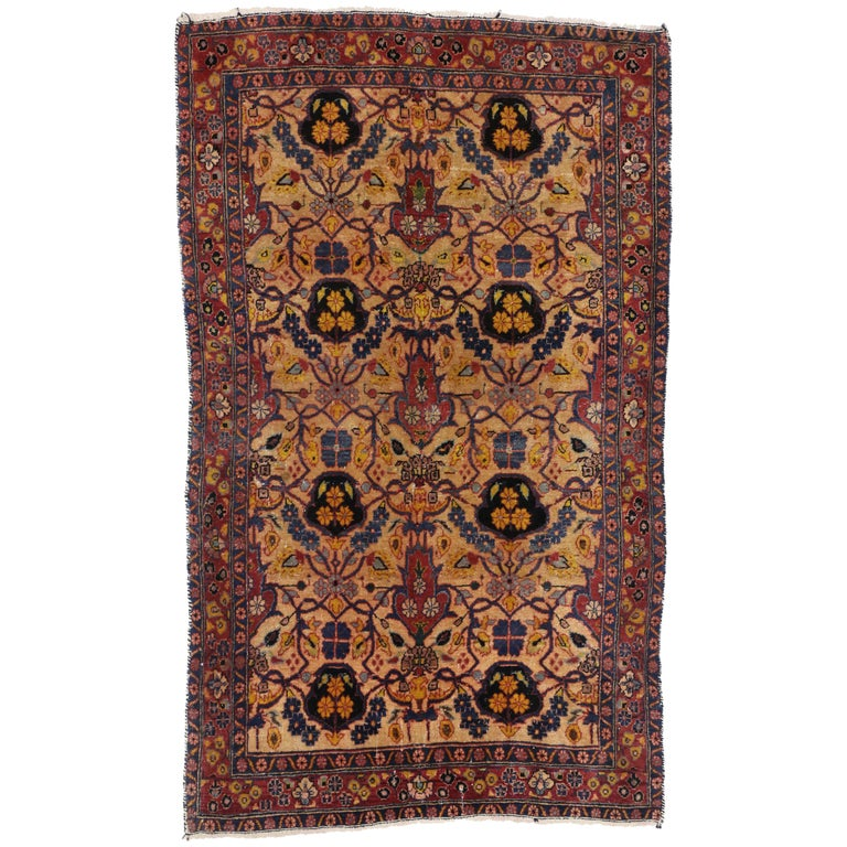Foyer Rugs For Sale : Antique persian kashan accent rug foyer or entry for