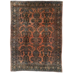 Antique Persian Kashan Rug with Traditional Style