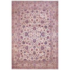 Antique Persian  Kashan Silk Rug