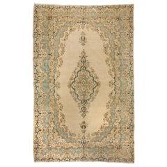 Antique Persian Kazvin Large Carpet, circa 1940s