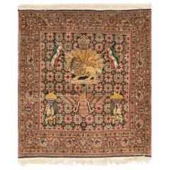 Antique Persian Kazvin Rug