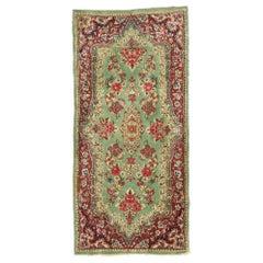 Antique Persian Kerman Accent Rug, Small Persian Rug