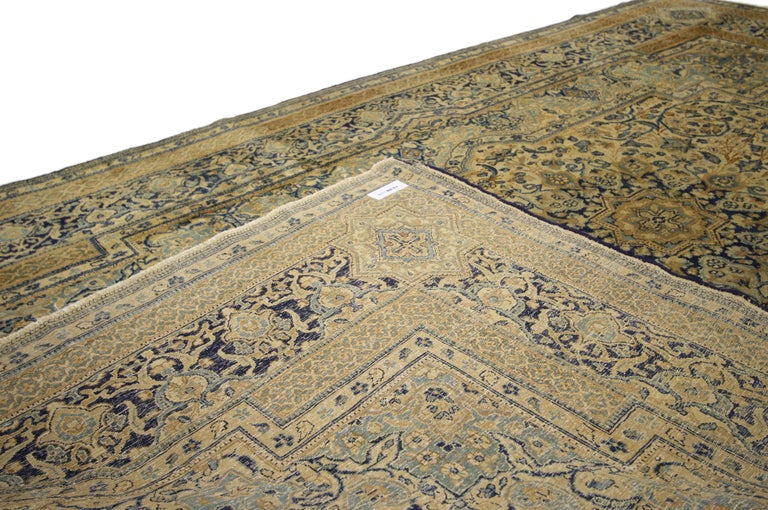 20th Century Antique Persian Kerman Area Rug with Hollywood Regency Style, Persian Kirman Rug For Sale