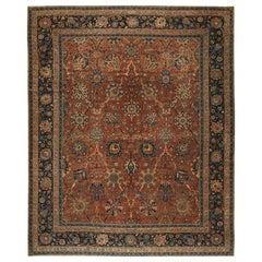 Antique Persian Kerman Carpet. Size: 11 ft 9 in x 14 ft 6 in (3.58 m x 4.42 m)