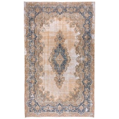 Antique Persian Kerman Carpet, Shabby Chic