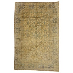 Antique Persian Kerman Palace Rug with French Victorian Style, Kirman Rug