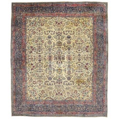 Antique Persian Kerman Palace Size Rug with Traditional English Manor Style