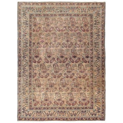 "Antique Persian Kerman Rug by Master Weaver Kermani. Size: 7' 4"" x 10' 1"""