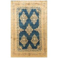 Antique Persian Kerman Rug Carpet, circa 1890 7'6 x 10'6