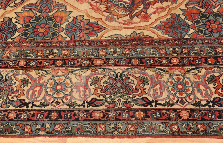 Hand-Knotted Antique Persian Kerman Rug For Sale