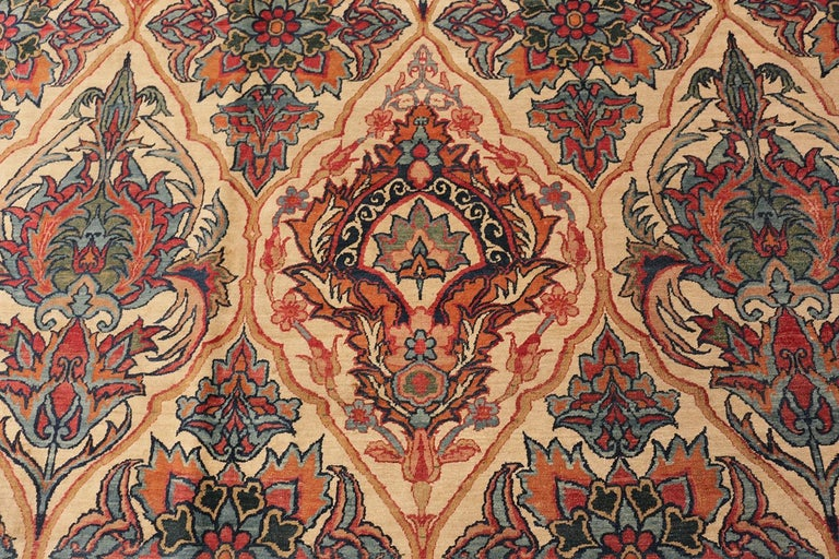 Antique Persian Kerman Rug In Good Condition For Sale In New York, NY