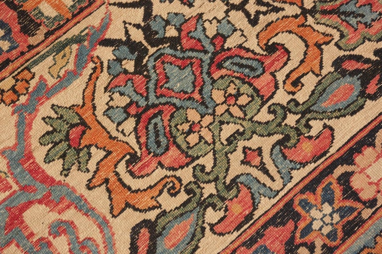 Wool Antique Persian Kerman Rug For Sale