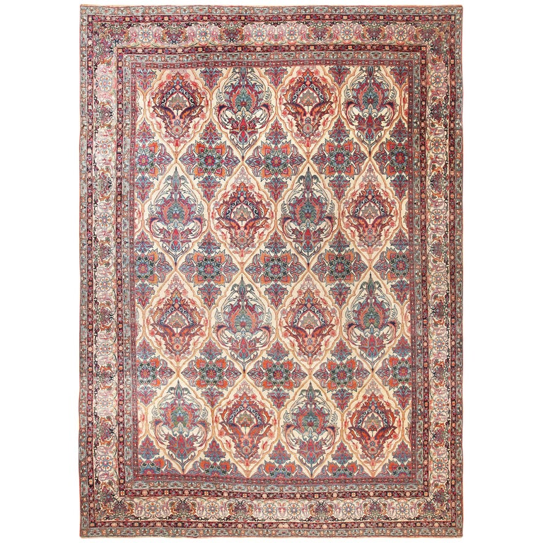 Antique Persian Kerman Rug For Sale