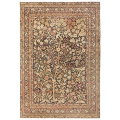 Antique Persian Kerman Tree of Life Design Rug. Size: 8 ft 8 in x 12 ft 3 in
