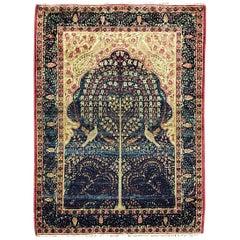 Antique Persian Kermanshah Rug, Three of Life