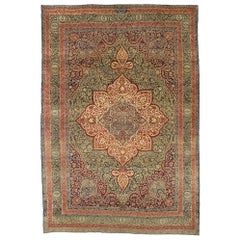 Antique Persian Kermanshah Rug with William Morris Arts & Crafts Style