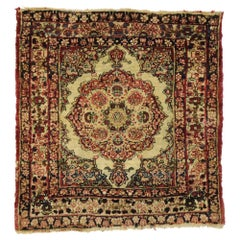 Antique Persian Kermanshah Scatter Rug with Old World Victorian Style