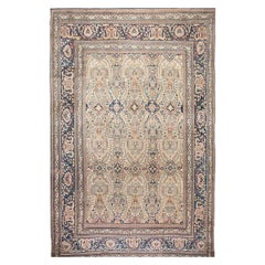 Antique Persian Khorassan Hand Knotted Wool Rug