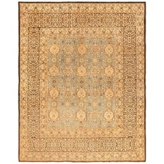 """Light Blue and Brown Antique Persian Khorassan Rug. Size: 8' 7"""" x 10' 10"""""""