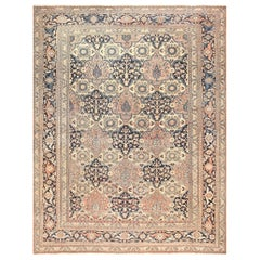 Antique Persian Khorassan Rug. Size: 12 ft 4 in x 15 ft 9 in (3.76 m x 4.8 m)