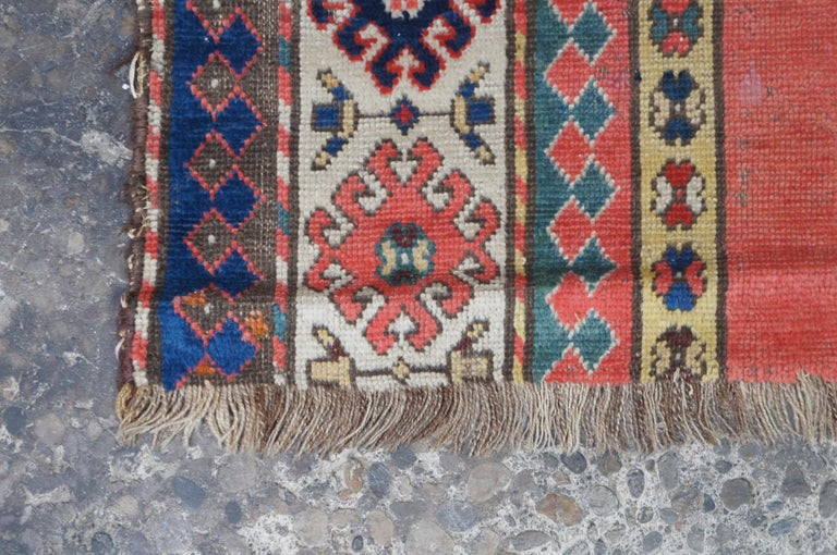 Antique Persian Kilim Area Rug Runner Carpet In Good Condition For Sale In Dayton, OH