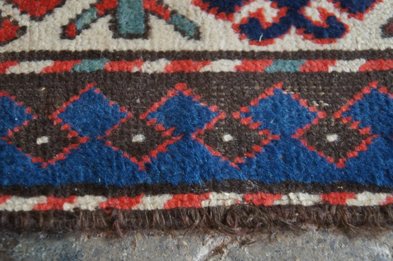 Wool Antique Persian Kilim Area Rug Runner Carpet For Sale