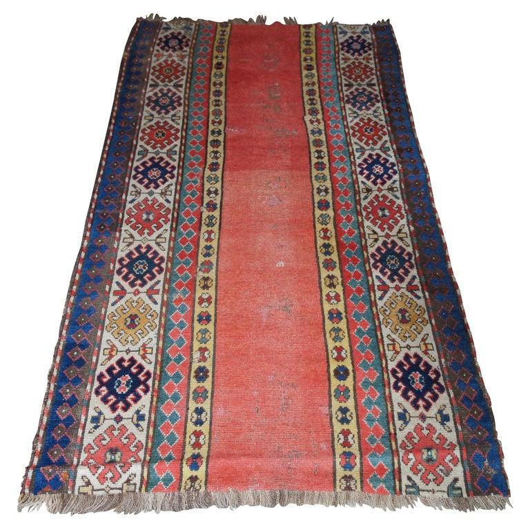 Antique Persian Kilim Area Rug Runner Carpet For Sale
