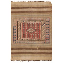Antique Persian Kilim. Size: 4 ft 4 in x 6 ft (1.32 m x 1.83 m)