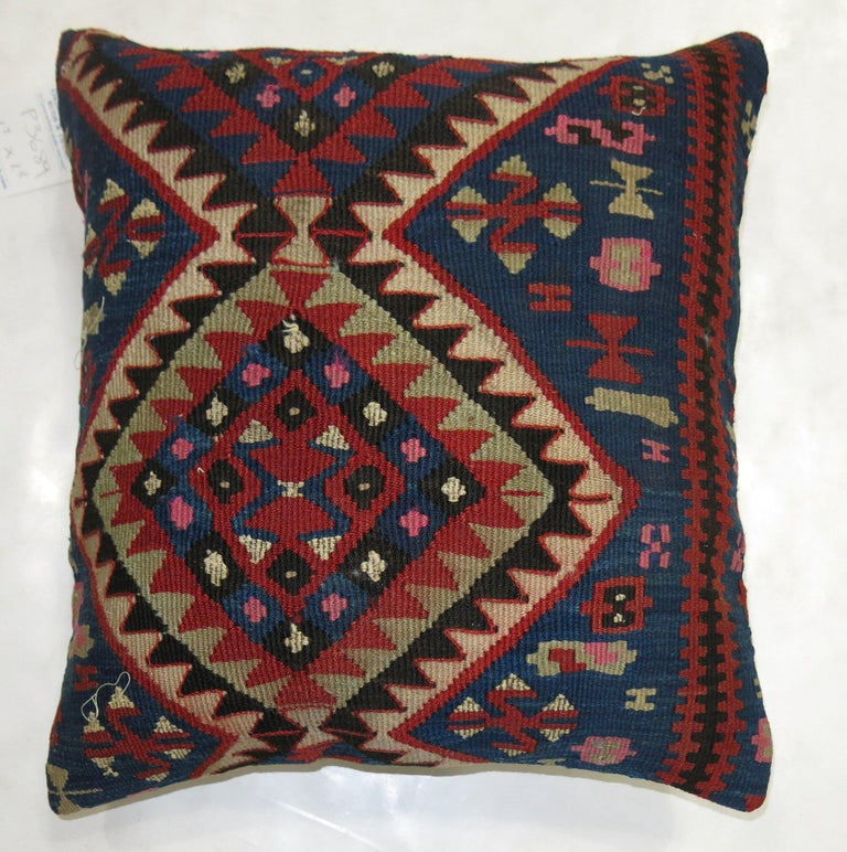 Tribal Antique Persian Kilim Pillow For Sale