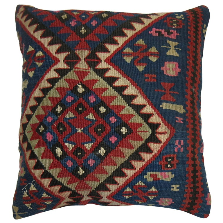 Antique Persian Kilim Pillow For Sale