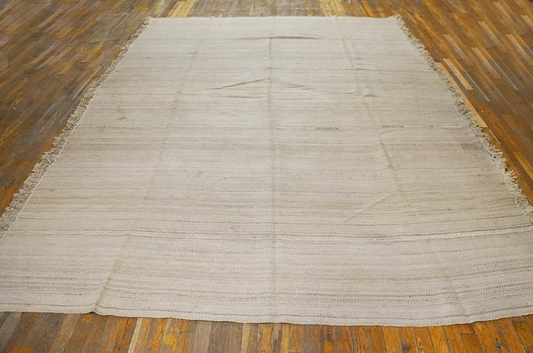 Antique Persian Kilim rug, size: 8'2