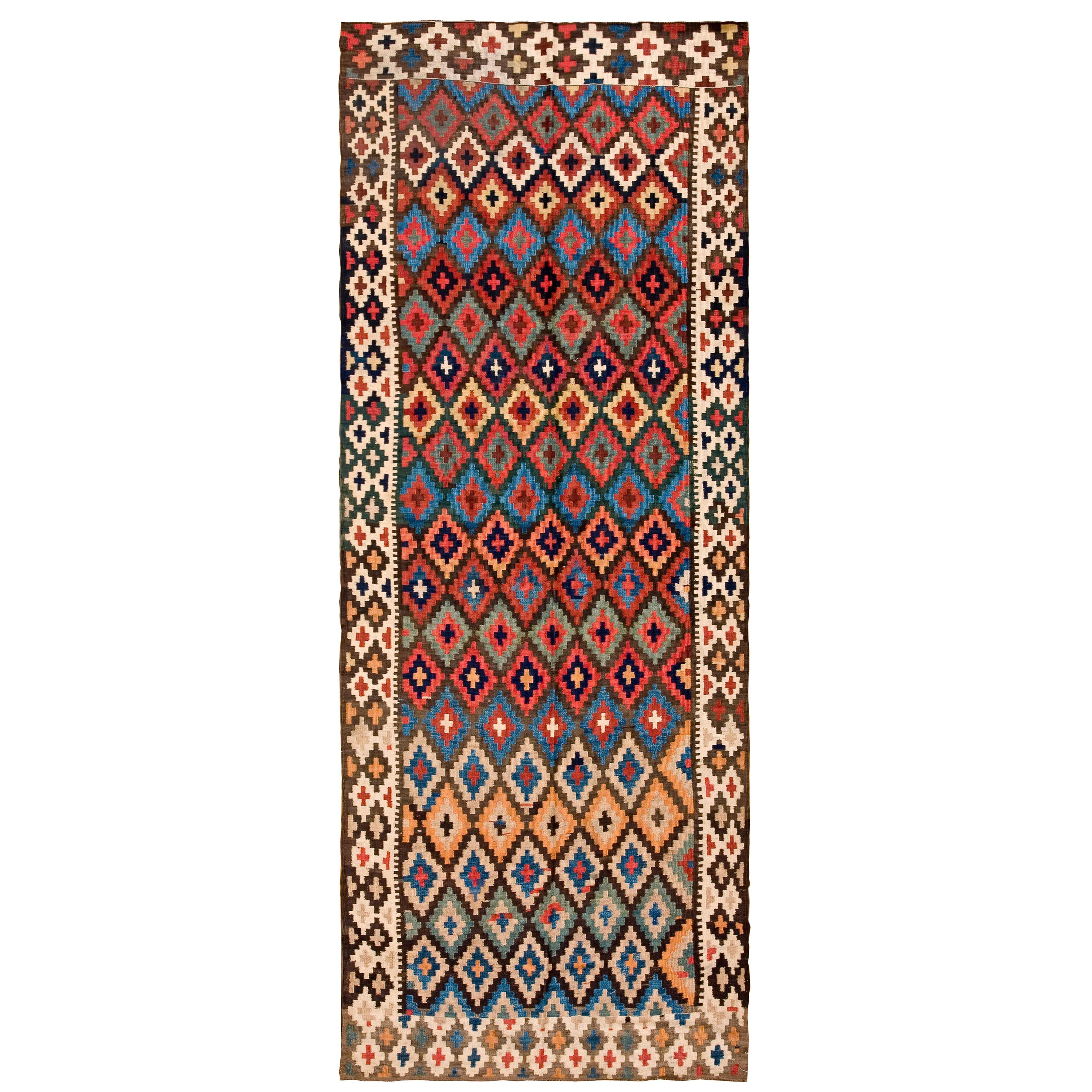 Antique Persian Kilim Rug