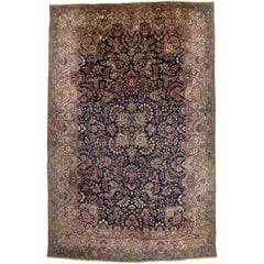 Antique Persian Kirman Gallery Rug, Persian Kerman Rug
