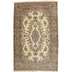 Antique Kirman Palace Size Rug with Romantic French Provincial Style