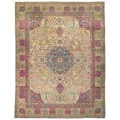 Antique Persian Kirman Rug Carpet, circa 1900