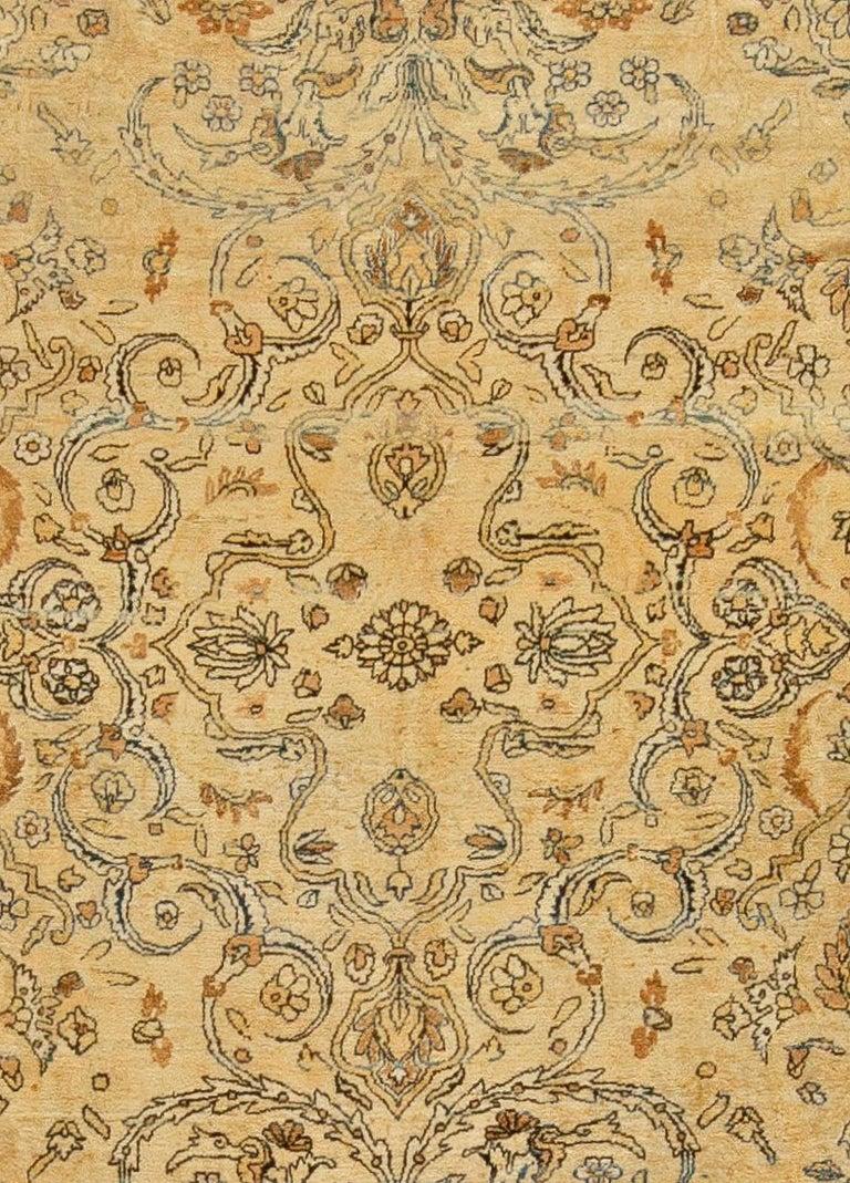 Antique Persian Kirman rug Size: 9'9