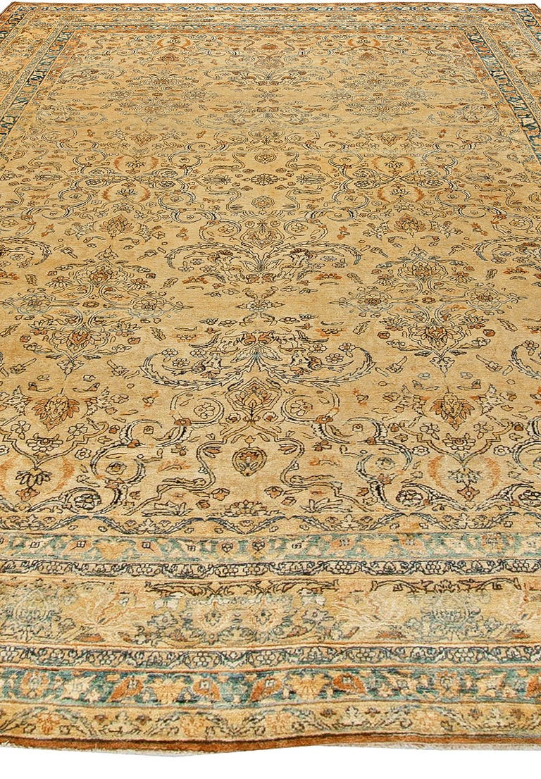 Hand-Woven Antique Persian Kirman Rug For Sale